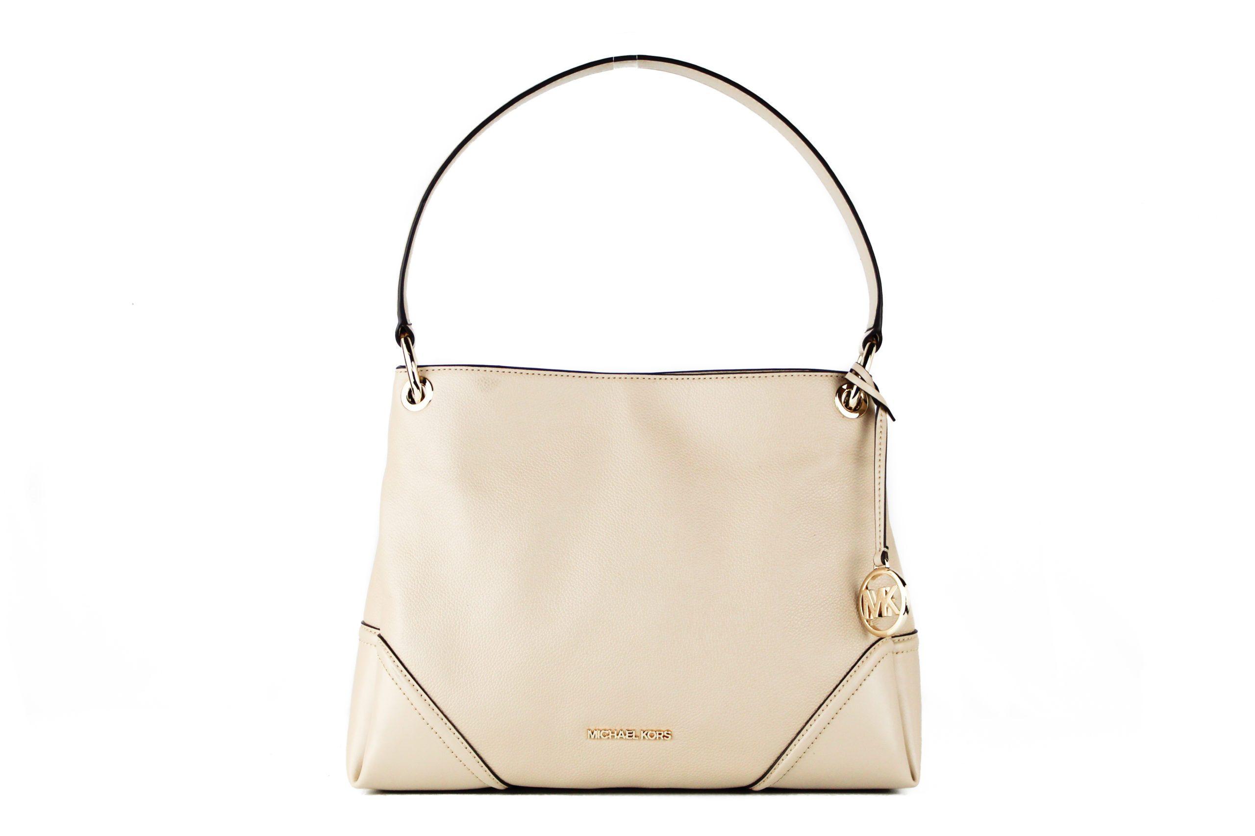 Michael Kors Women's Nicole Medium Leather Shoulder Bag Beige 70832