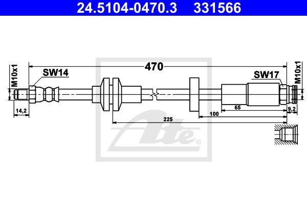 Jarruletku ATE 24.5104-0470.3
