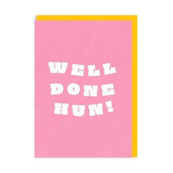 Well Done Hun! Riso Greeting Card