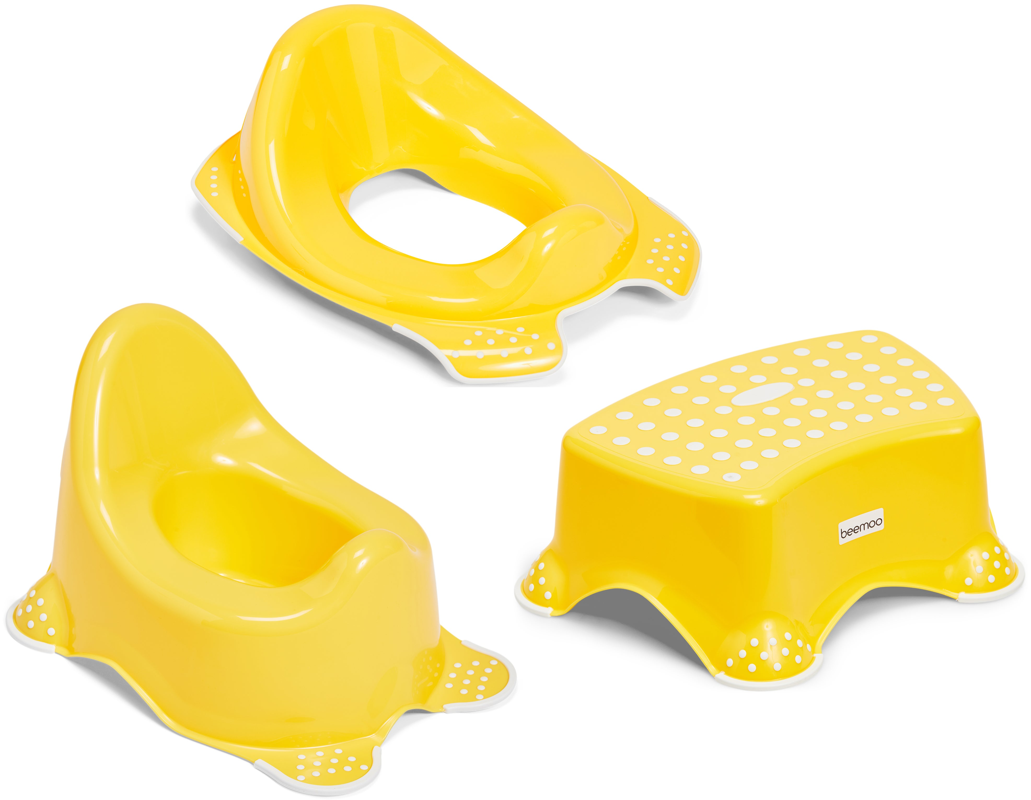 Beemoo Care Liukuestepotta, WC-Supistaja ja Korokejakkara, Capri Yellow