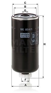 Polttoainesuodatin MANN-FILTER WK 854/1