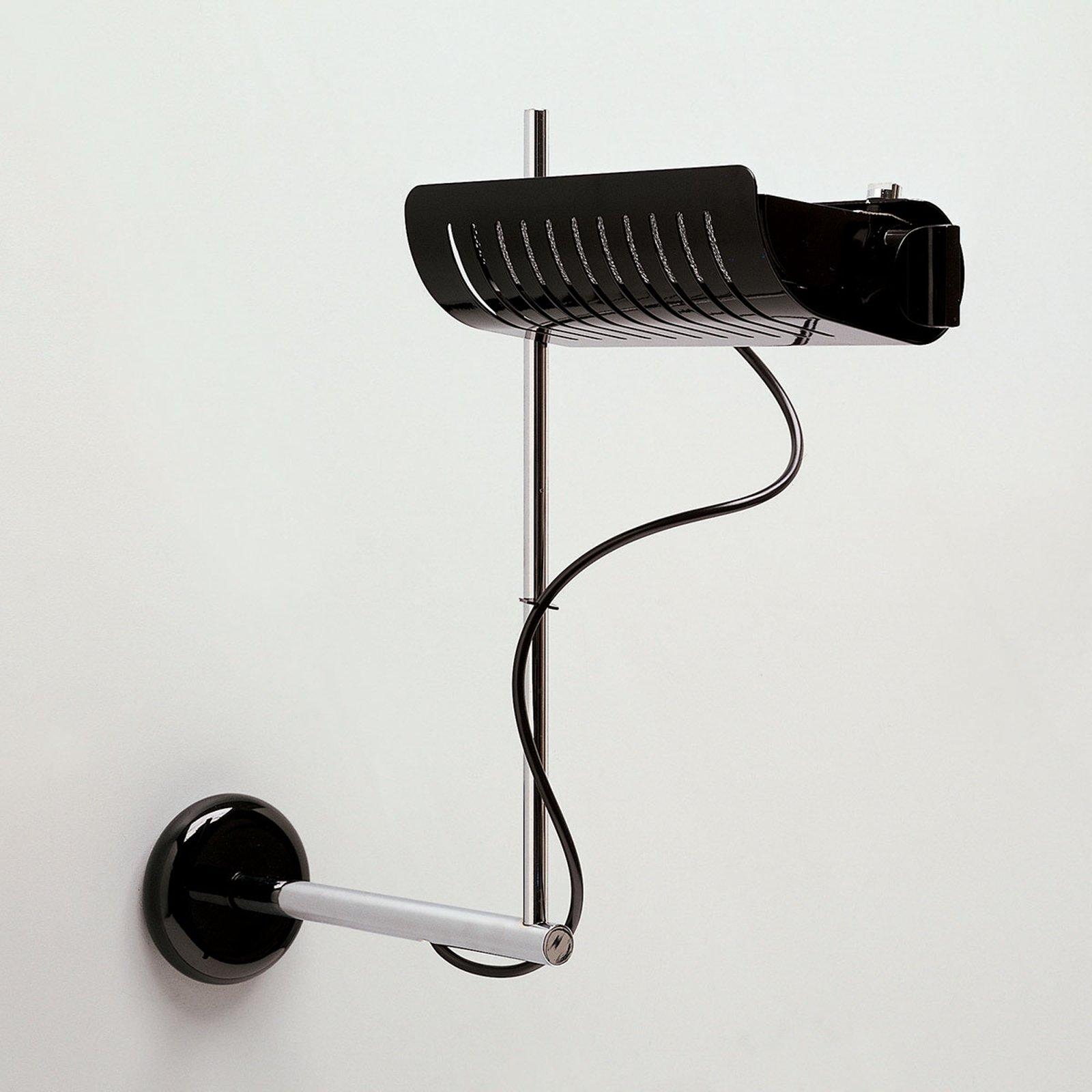 Designer-vegglampe Colombo 761, svart