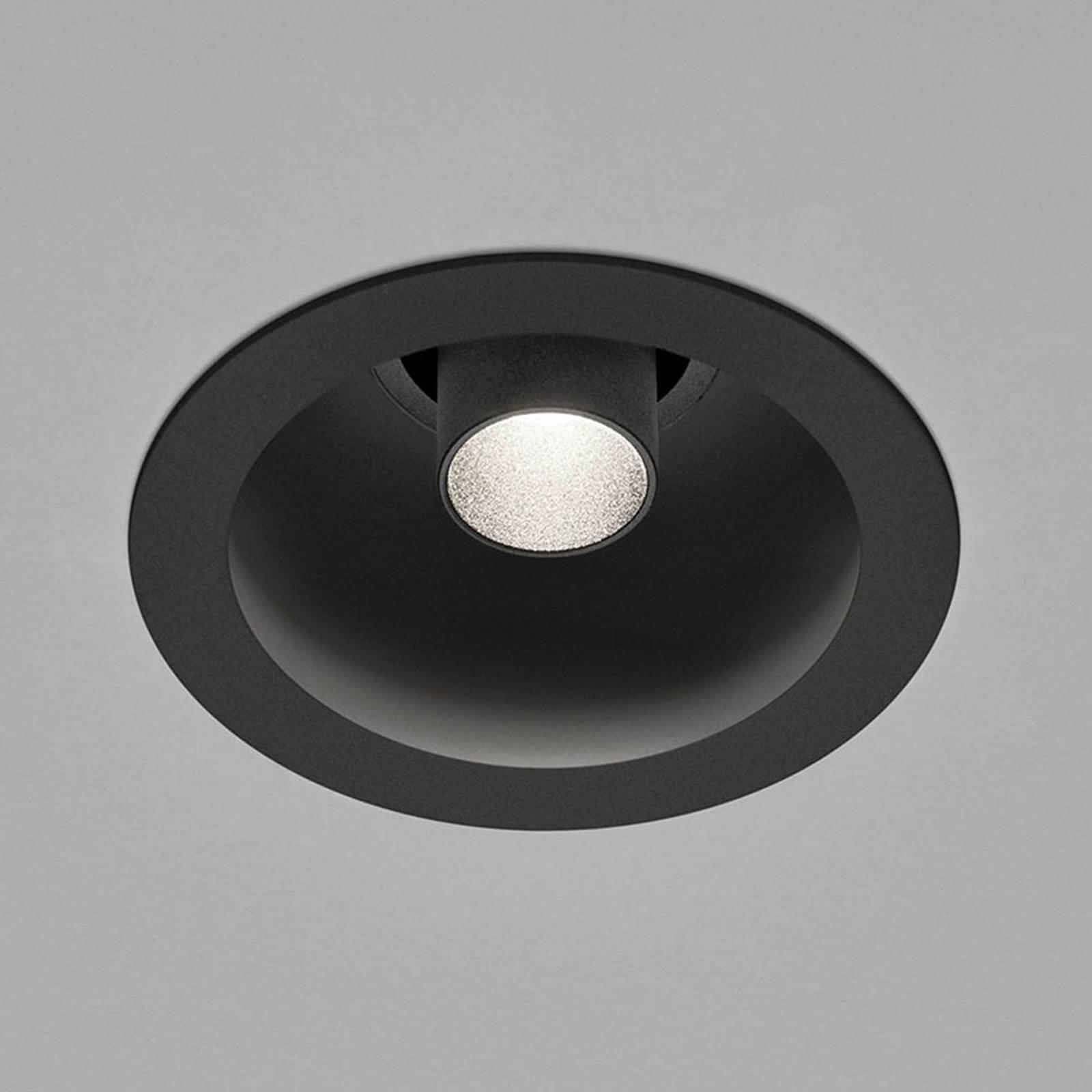 Helestra Run LED-downlight, 1 lyskilde svart/svart