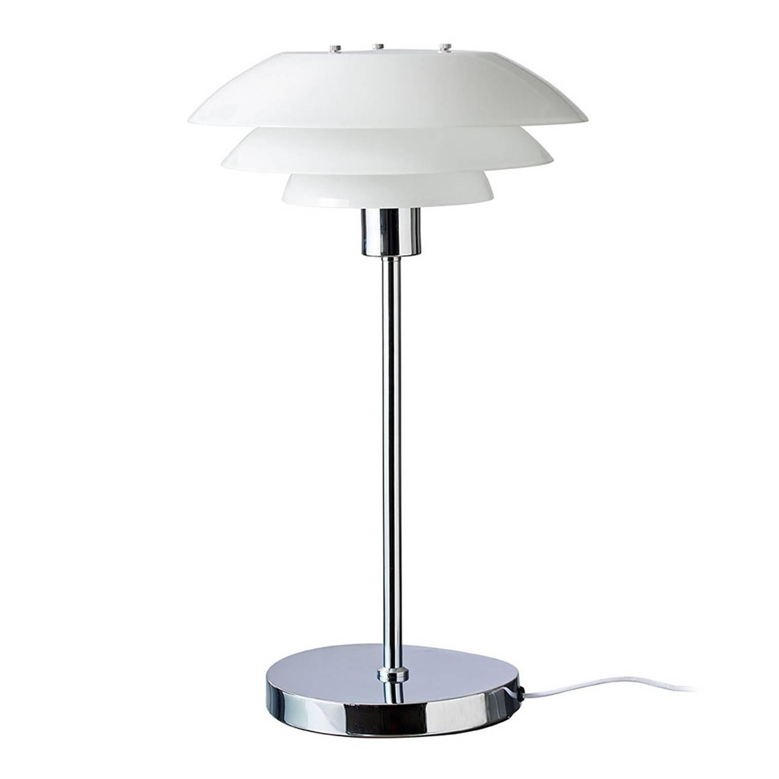 Dyberg Larsen DL31 Opal-pöytälamppu, lasivarjostin