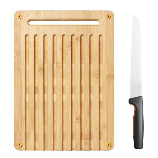 Fiskars - Functional Form Skärbräda med Brödkniv 2 delar