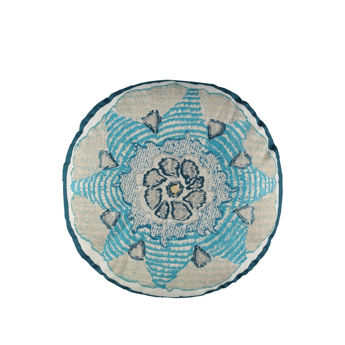 William Yeoward | Escaffo Circular Cushion Peacock