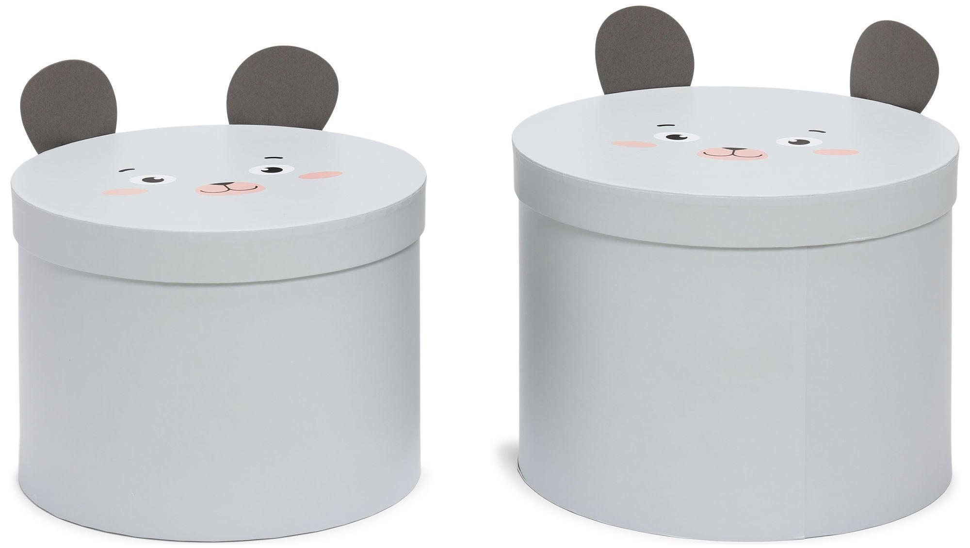 Alice & Fox Säilytyslaatikot 2-Pack Hiiri, Valkoinen