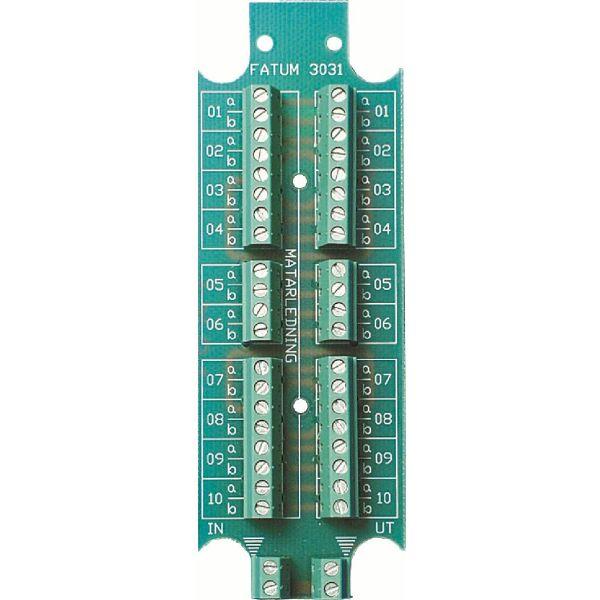 Alarmtech 3031.03 Teleklemme 10 par Skrue/skrue