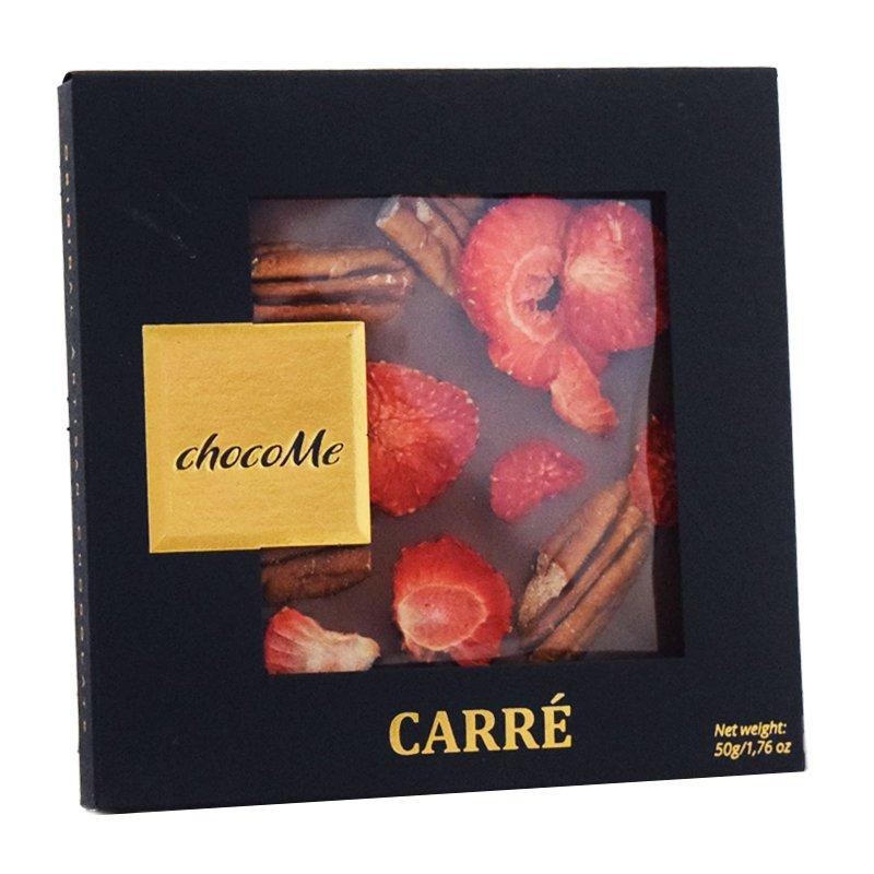 Choklad Pekannötter & Jordgubbar 50g - 45% rabatt