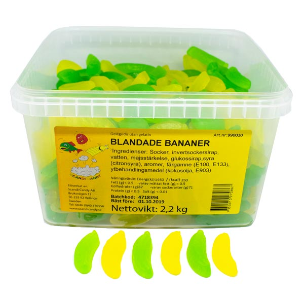 BLANDADE BANANER SCANDY - 2,2 kg