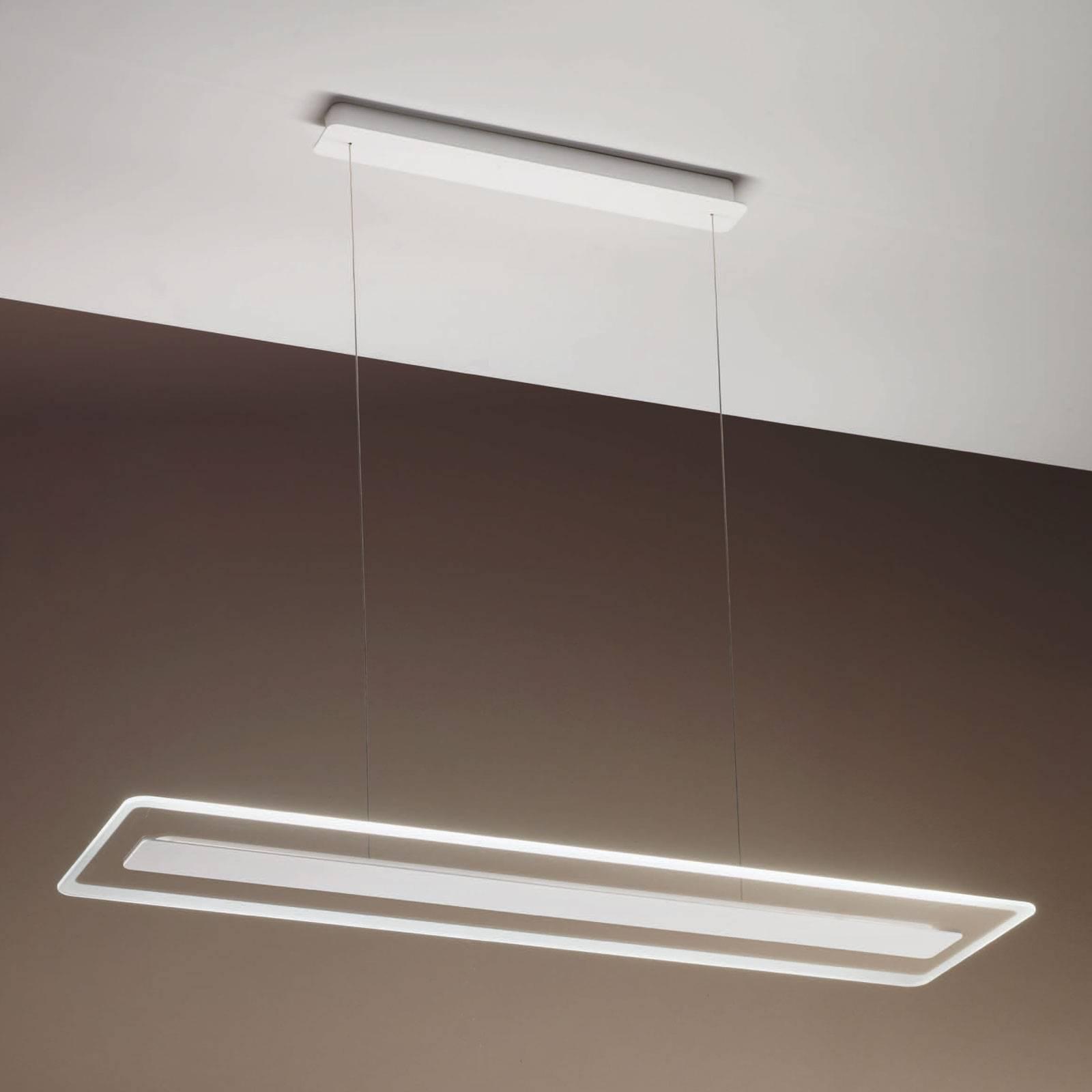 LED-riippuvalaisin Antille lasia, kromi