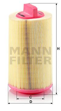 Ilmansuodatin MANN-FILTER C 14 114