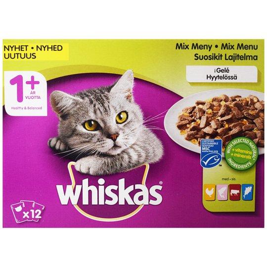 Kissanruoka Kala- ja Lihalajitelma 12kpl - 24% alennus