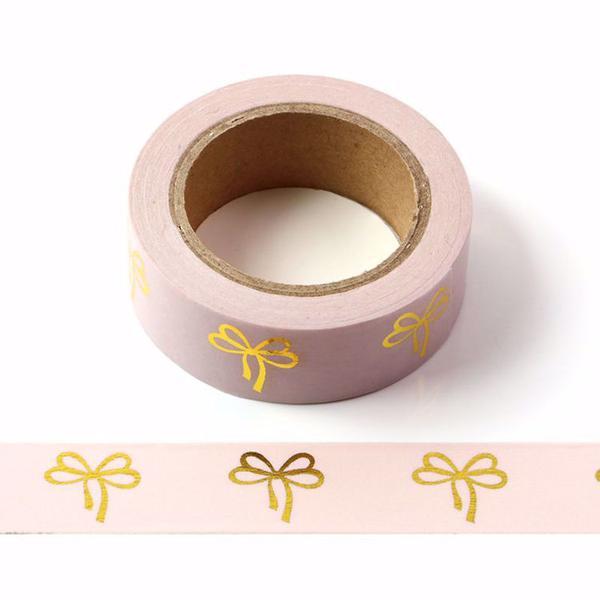 Pink Gold Bows Washi Tape