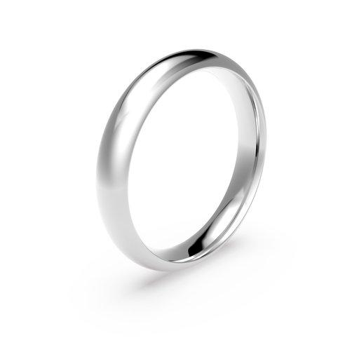 Förlovningsring i platina 4mm, 52