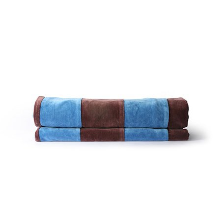 Striped Sengeteppe Velvet Blue/Purple 150x240 cm