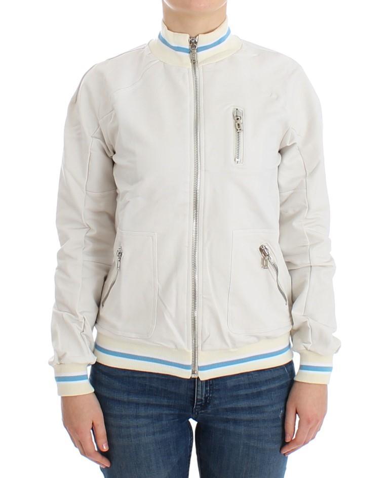 John Galliano Women's Mock Zip Sweater White SIG12525 - S