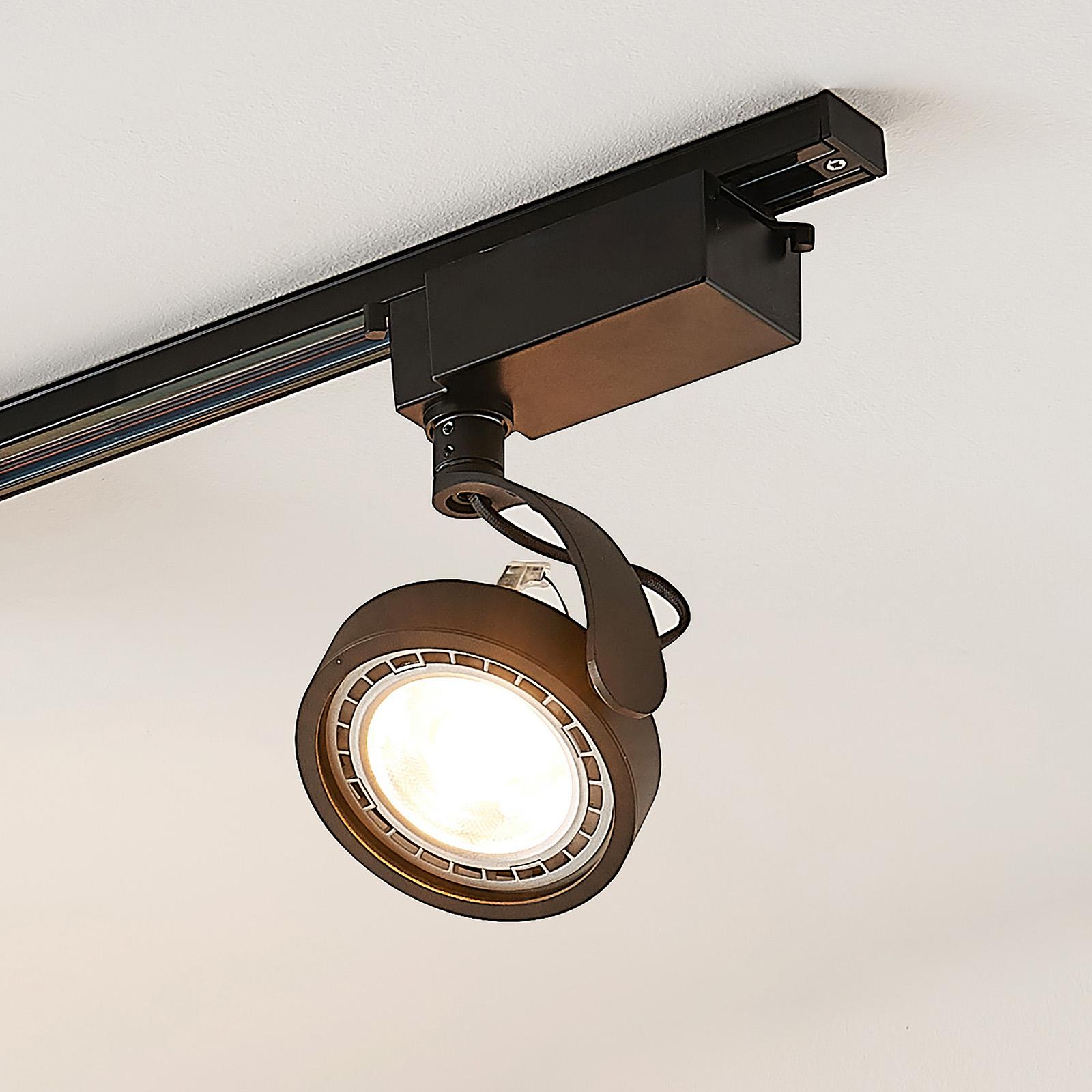 1-vaihe-LED-kohdevalaisin Rick mustana