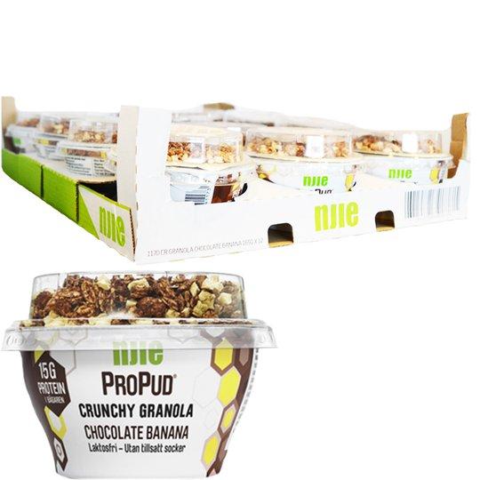 "Hel Låda Proteinpudding ""Chocolate & Banana"" 12 x 165g - 28% rabatt"