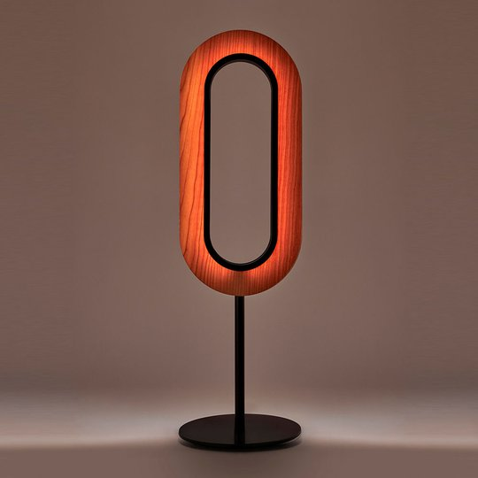 LZF Les Oval LED-bordlampe svart elfenben