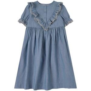 Bonpoint Ruffle Klänning Denimblå 4 år