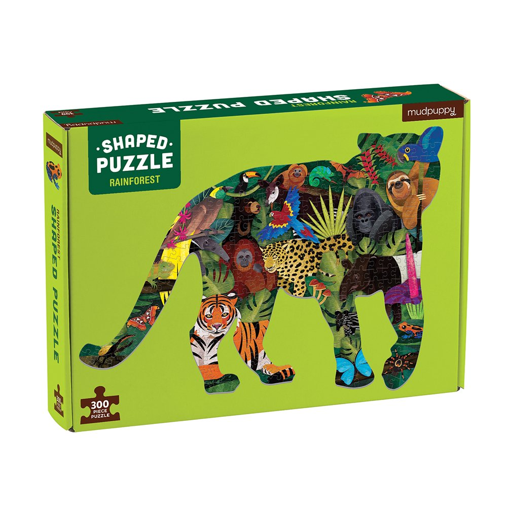 Mudpuppy - Puzzle 300 pc - Rainforest - Shaped Scene (057266)