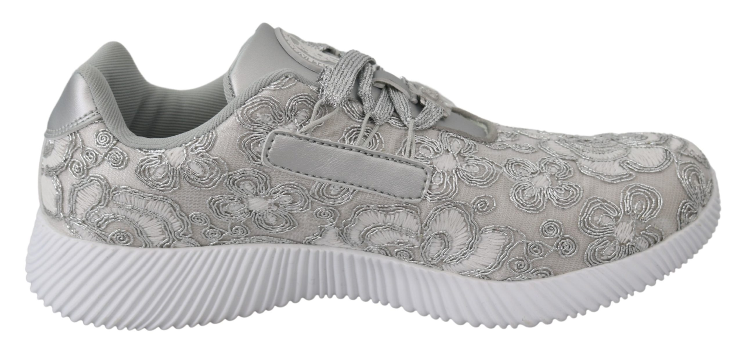 Silver Polyester Runner Joice Sneakers Shoes - EU40/US10