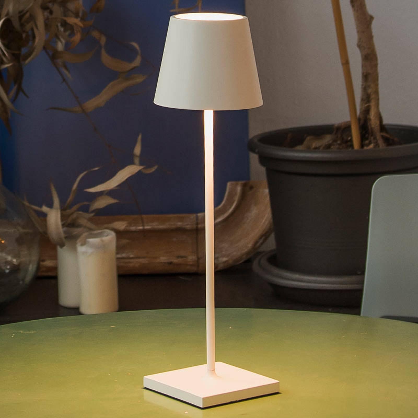 Bærbar LED-bordlampe Toc med USB-lader, IP54