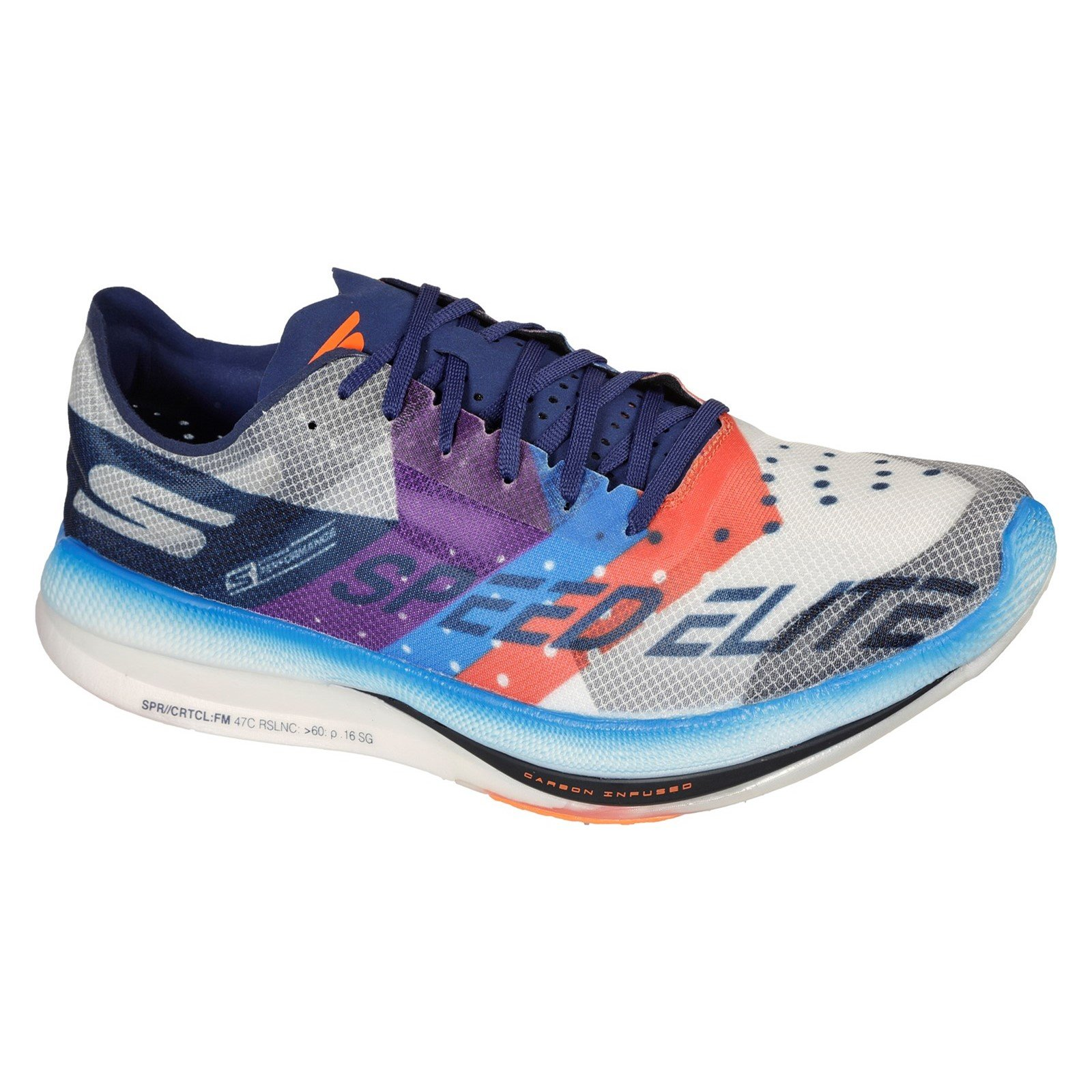 Skechers Men's Go Run Speed Elite Trainer Multicolor 32700 - White/Multi 10