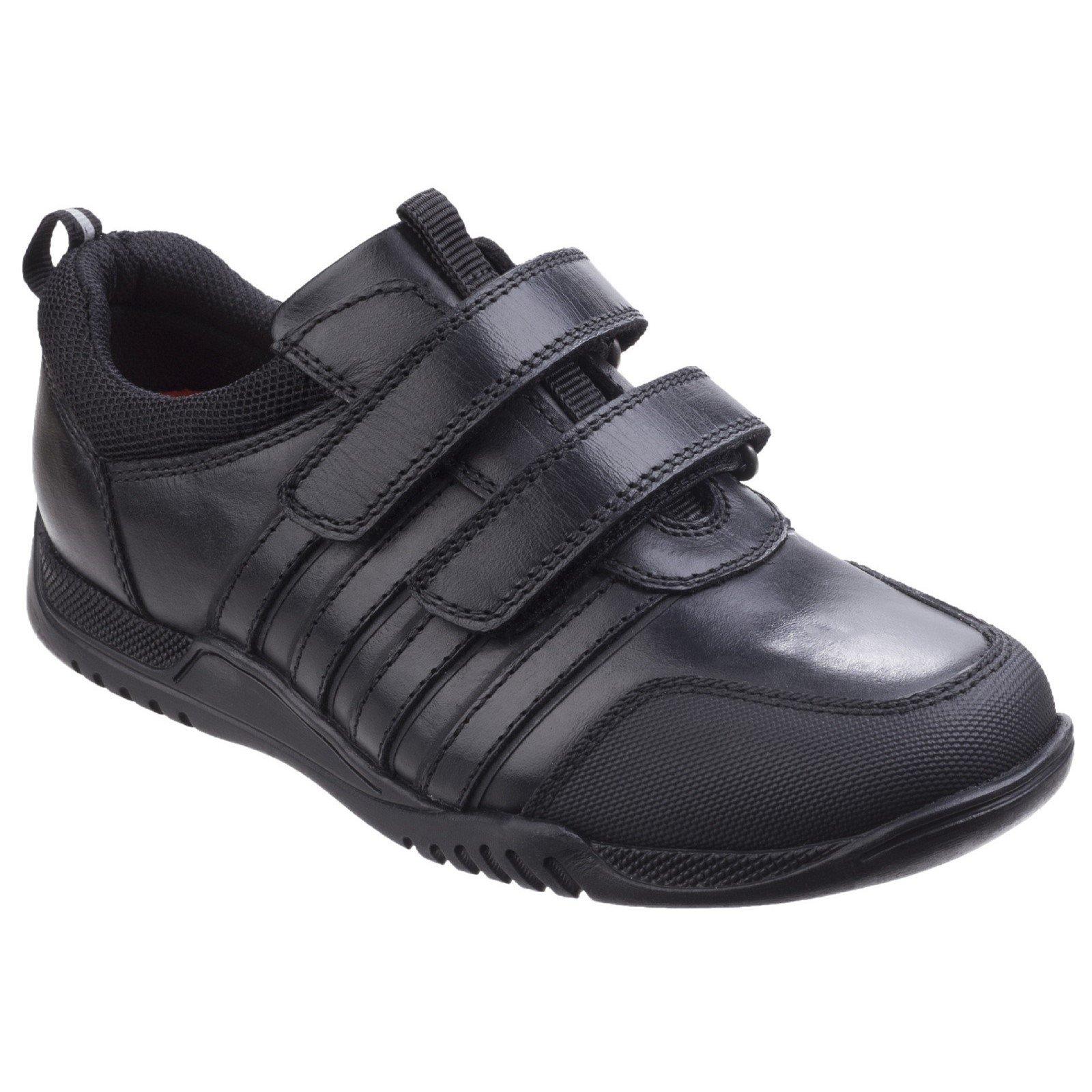 Hush Puppies Kid's Josh Senior School Shoe Black 26396 - Black 3.5