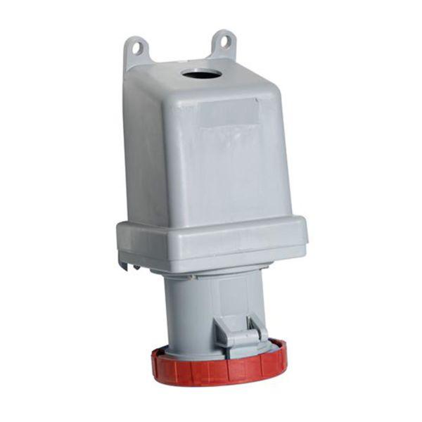 ABB 2CMA167157R1000 Seinäpistorasia IP67, 16 A, ulkoinen kiinnitys 4-napainen, Punainen