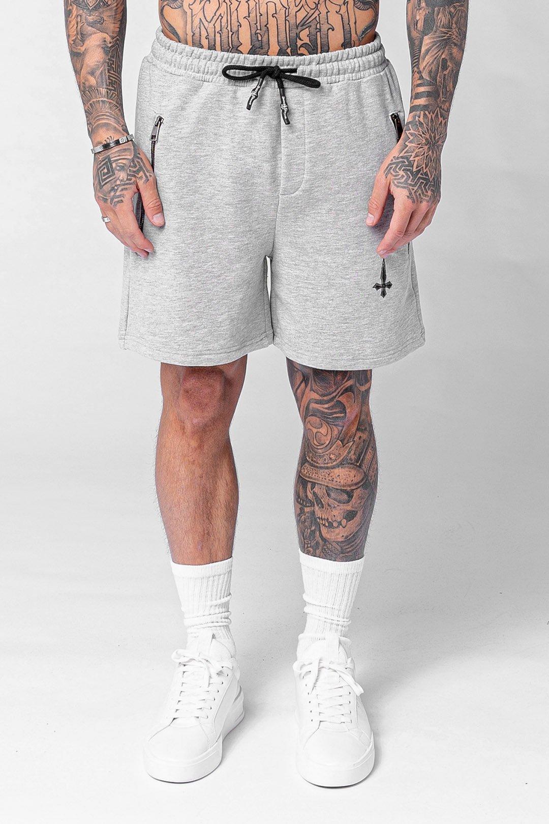 Vanna Essential Men's Jogger Shorts - Grey Marl, XX-Large