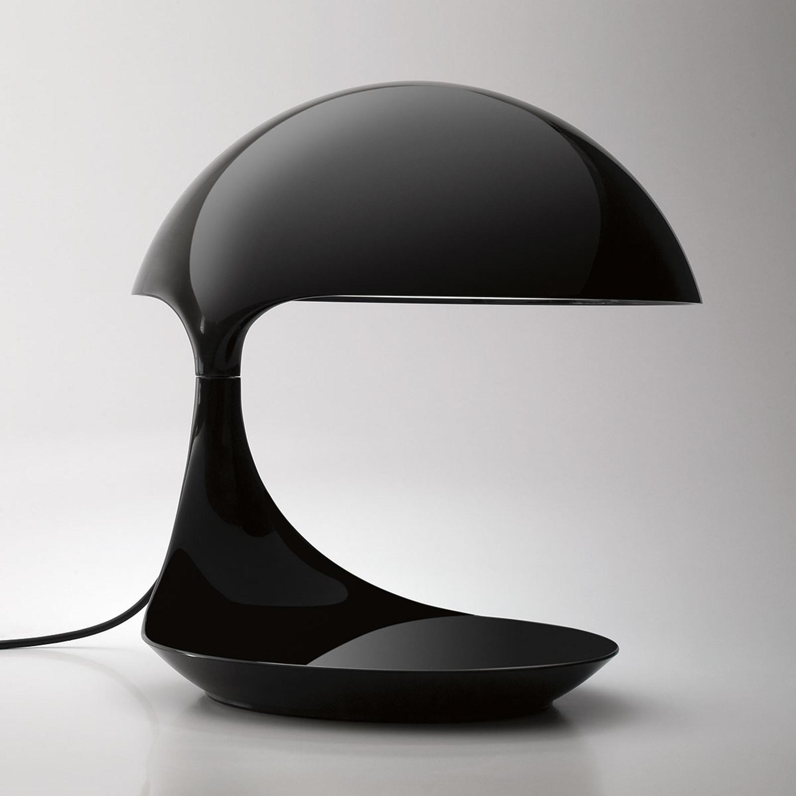 Martinelli Luce Cobra -retro-pöytävalaisin musta