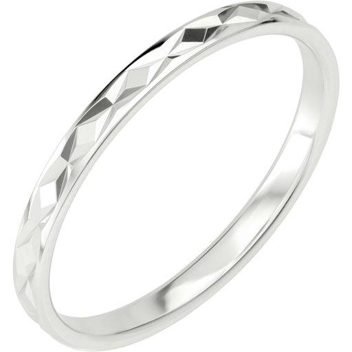 Förlovningsring i äkta silver 2mm, 67