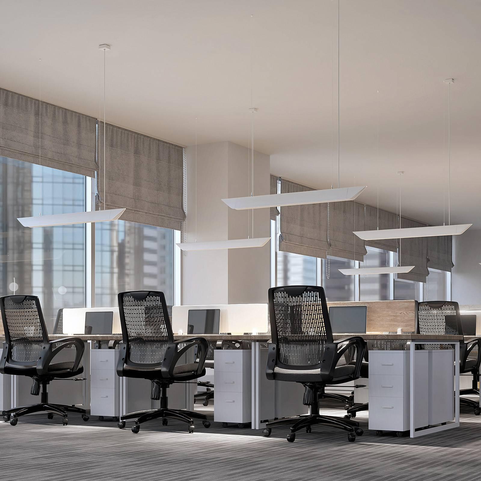 Arcchio Ekino toimiston LED-riippuvalo, valkoinen
