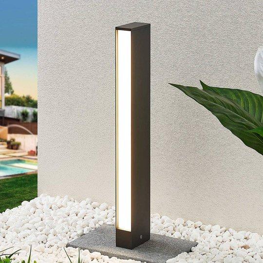 LED-pylväsvalaisin Lirka, tummanharmaa, 1-lampp.