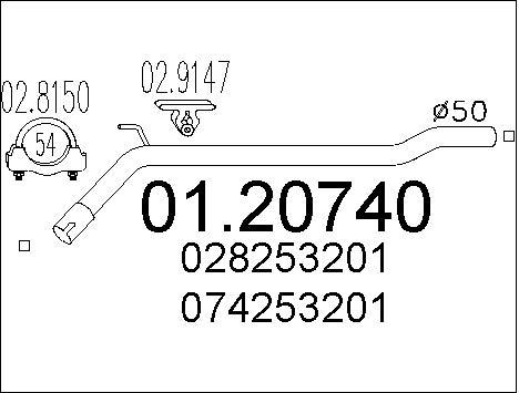 Pakoputki MTS 01.20740
