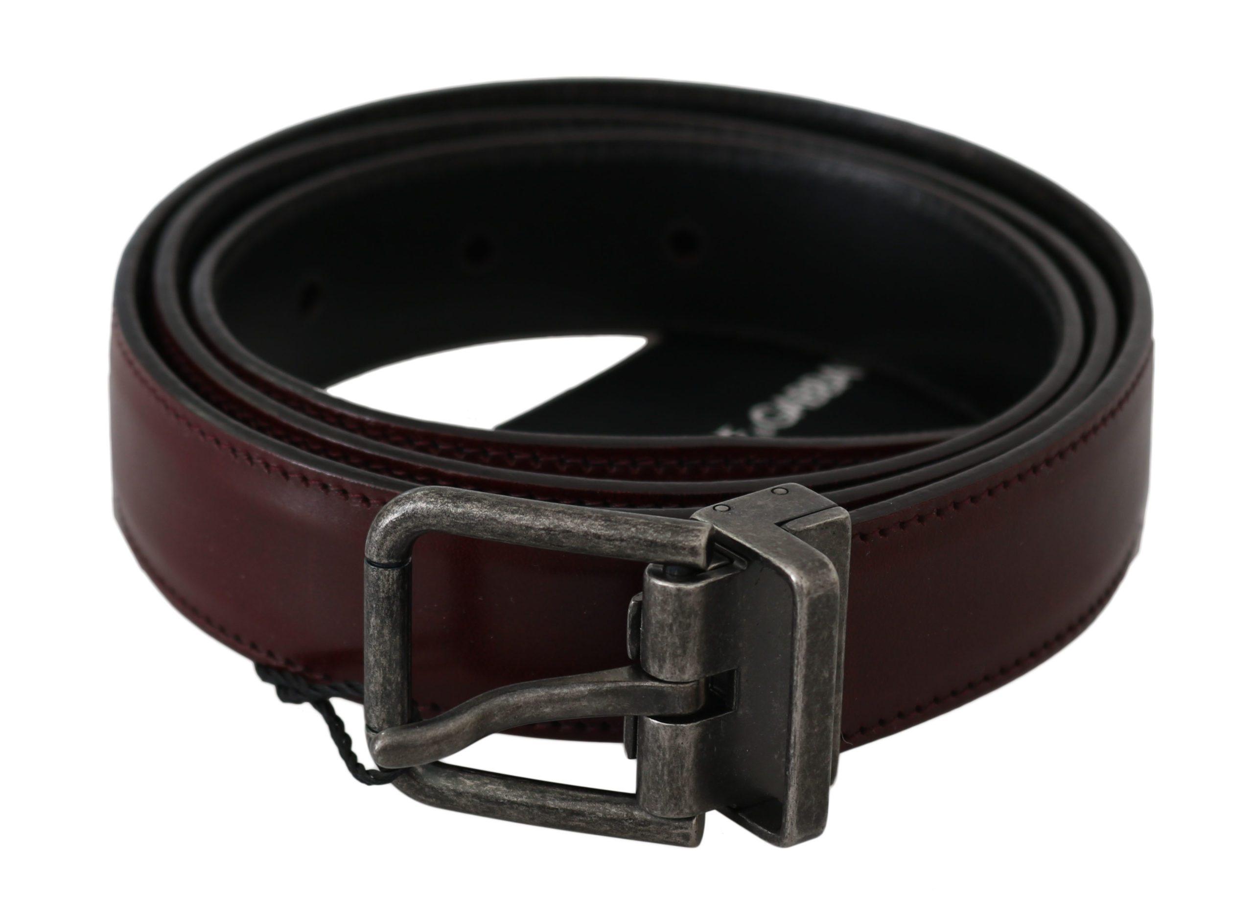 Dolce & Gabbana Men's Belt Bordeaux BEL60334 - 100 cm / 40 Inches