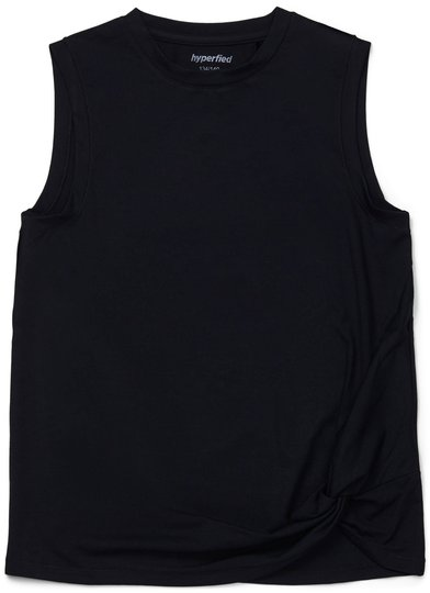 Hyperfied Jersey Knot Tank Top, Anthracite 134-140