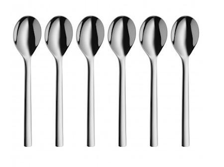Nuova teskje blank stål 13,5cm 6-pakk