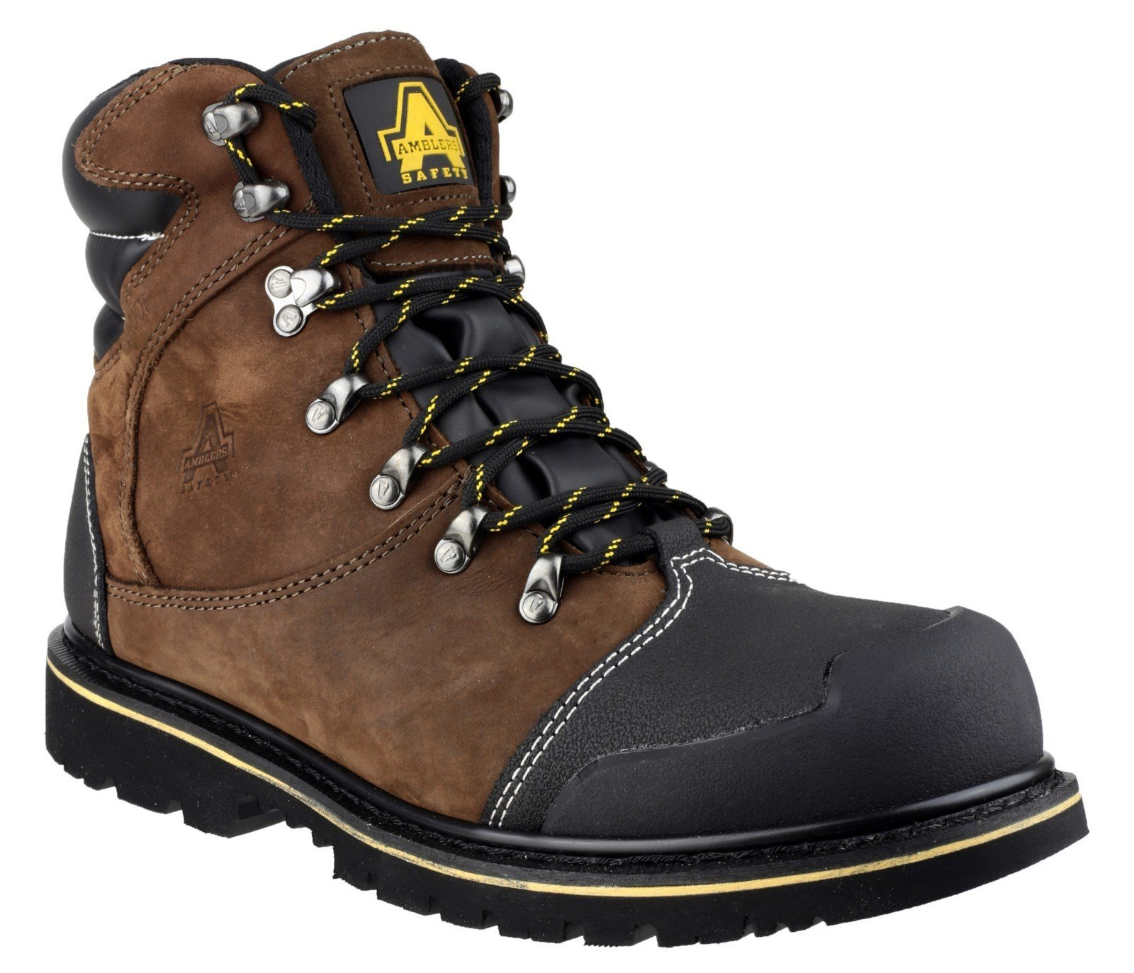 Amblers Unisex Safety Goodyear Waterproof Lace Up Industrial Boot Brown 20435 - Brown 6