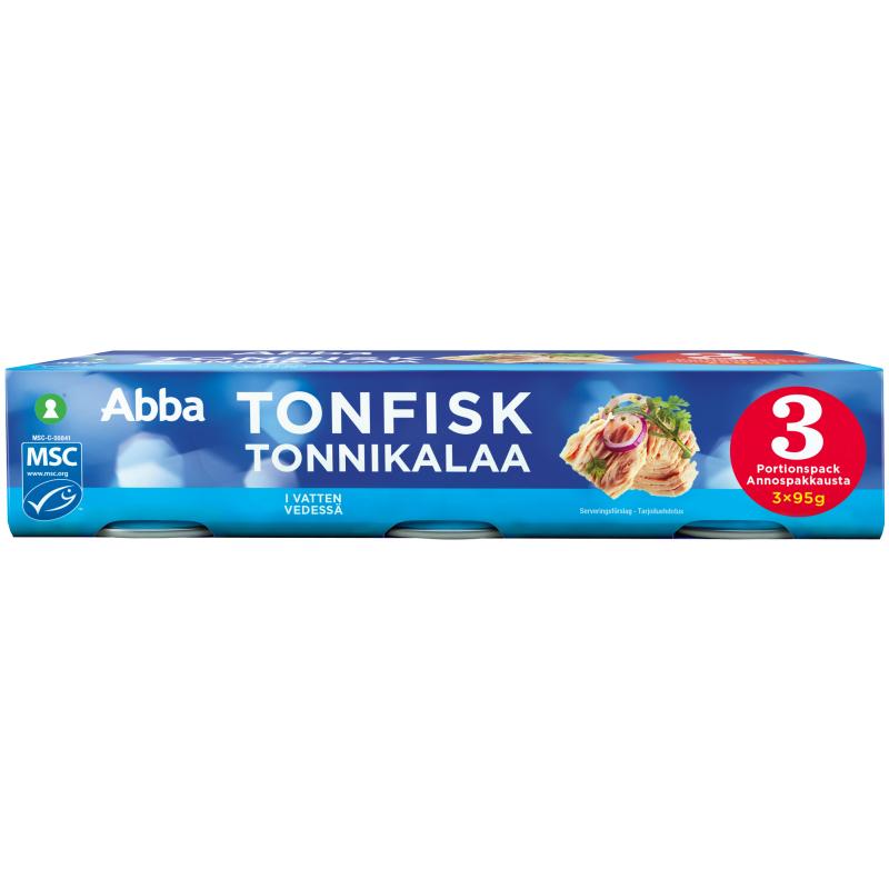 Tonfisk Vatten 3 x 95g - 27% rabatt