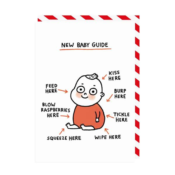 New Baby Guide Greeting Card