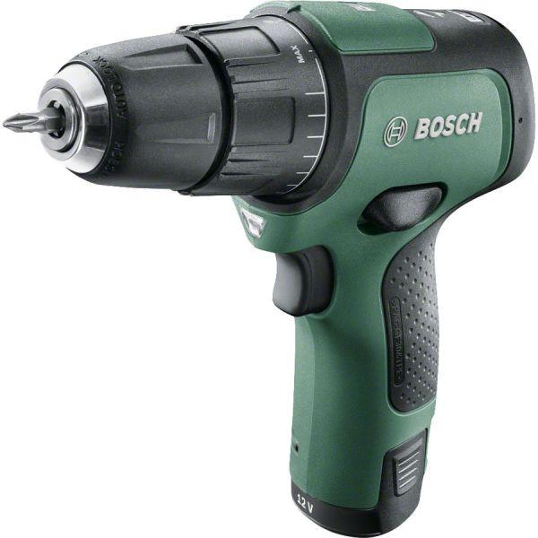 Bosch DIY Easy Impact 12 Slagbor/skrutrekker med 2,0 Ah batteri og lader