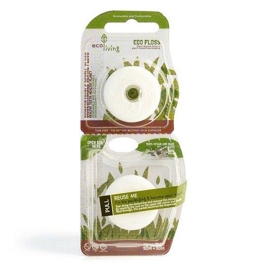 ecoLiving Eco Floss Växtbaserad Tandtråd, 2 x 50 m