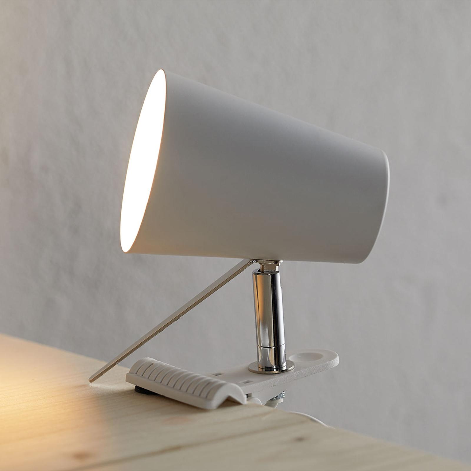 Valkoinen klipsivalaisin Clampspots moderni design