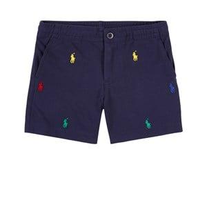 Ralph Lauren All Over Logo Shorts Marinblå 2 år