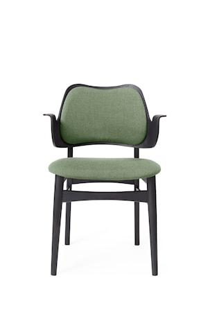 Gesture Chair S Sage green Canvas, Svartlackad Bok
