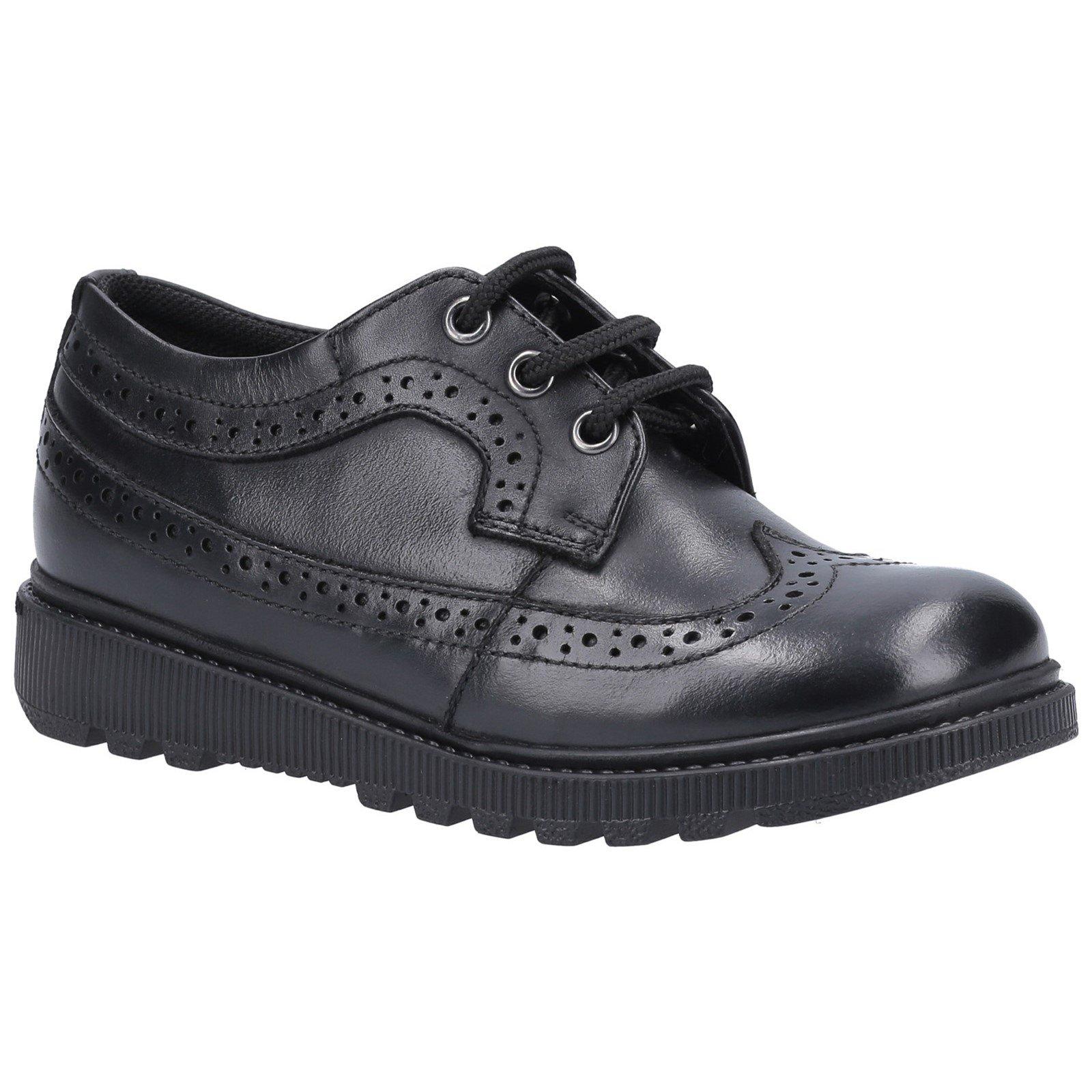 Hush Puppies Kid's Felicity Junior School Oxford Shoe Black 30849 - Black 12