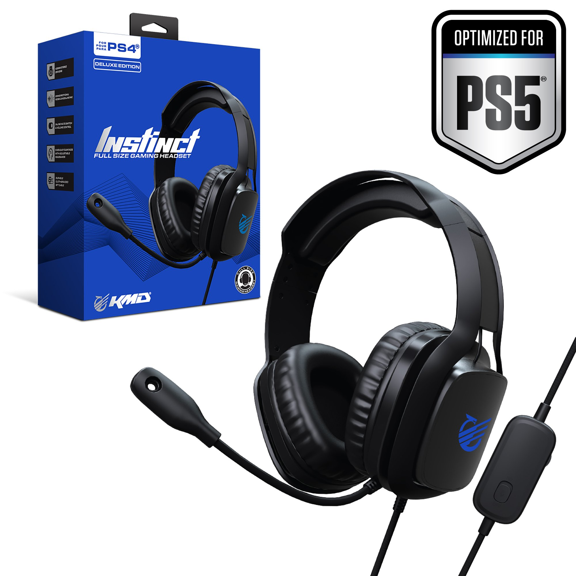 KMD Playstation 4/5 Instinct Gaming Headset - Deluxe Edition